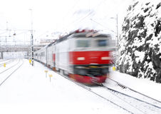 Red train Stock Images