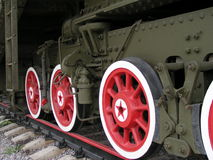 Red Train. Train in Moscow Victory Park Royalty Free Stock Image