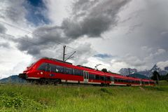 Train in Germany stock photo