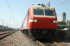 Red train of China Royalty Free Stock Photo