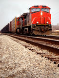 Red Train Engines Royalty Free Stock Photos