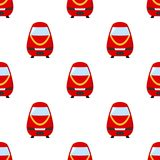 Red Train Flat Icon Seamless Pattern Royalty Free Stock Image