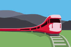 Red train Stock Photography