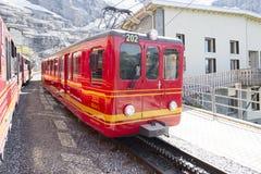 Free Red Train Of Jungfraubahn Stock Photos - 59829253