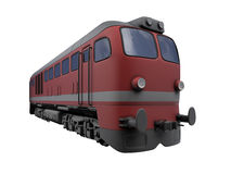 Red train over white Stock Image