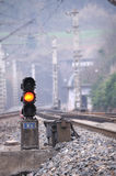 Red train signal Royalty Free Stock Image