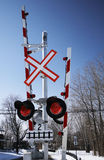Red train signal Stock Photo