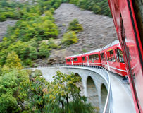 Red train. Royalty Free Stock Images