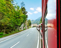 Red train. Royalty Free Stock Image