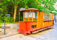 The red tram-bar Royalty Free Stock Image