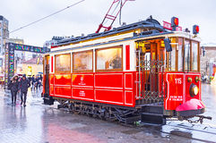 The red tram Royalty Free Stock Image