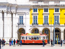 The Red Tram Stock Photography
