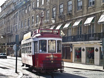 Red Tram Royalty Free Stock Images
