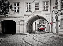 Red tram Royalty Free Stock Photo