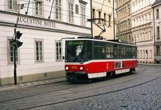 Red tram Stock Photos