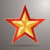 Red trans golden star Stock Image