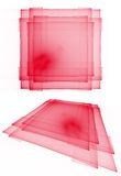 Red translucent layered squares Royalty Free Stock Photo