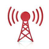 Red transmitter tower icon Royalty Free Stock Photos