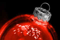 Red transparant christmas ball Royalty Free Stock Photography