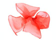 Red transparent bow Stock Photos