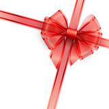 Red transparent bow isolated on white Stock Images