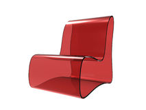 Red Transparent Chair Stock Photos