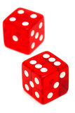 Red and transparent dice Stock Image