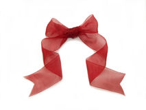 Red Transparent Ribbon. For many purpose gift decoration royalty free stock image