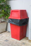 Red trash box Royalty Free Stock Photo