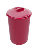Red trash can isolated Royalty Free Stock Image
