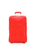 Red travel bag isolated on white Royalty Free Stock Photos