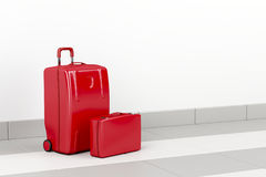 Red travel bags Royalty Free Stock Image