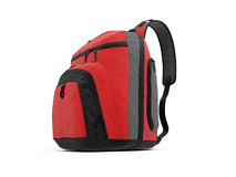 Red travel rucksack Royalty Free Stock Image