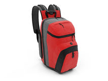 Red travel rucksack Stock Image