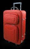 Red travel suitcase Stock Images