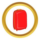 Red travel suitcase vector icon Stock Image