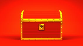 Red Treasure Chest stock video