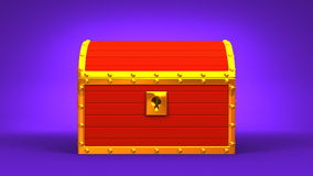 Red Treasure Chest stock video footage