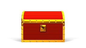 Red Treasure Chest stock footage
