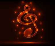 Red_treble_clef Image stock