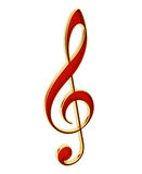Red Treble Clef Stock Images