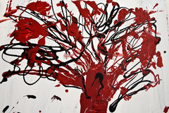 Red tree. Abstract red tree on white background Stock Image