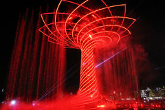 Red tree of life Stock Image