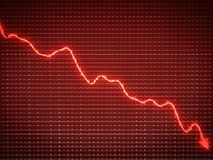 Red trend as symbol of business recession and financial crisis. Large resolution Stock Photography