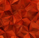 Red Triangle Abstract Background. Vector Pattern of Geometric Shapes Stock Photos