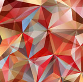 Red Triangle Abstract Background. Vector Pattern of Geometric Shapes Stock Image