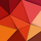 Red triangle background Stock Image