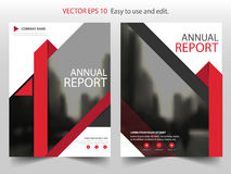 Red Triangle Brochure annual report Leaflet Flyer template design, book cover layout design, abstract business presentation. Template, a4 size design vector illustration