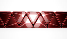 Red triangle concept Stock Image