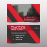Red triangle corporate business card, name card template ,horizontal simple clean layout design template , stock illustration